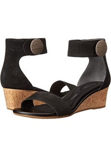 Rockport Total Motion 55mm Stone Ankle Strap Wedge Sandal