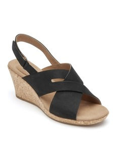 Rockport Women's Briah Slot Sling Wedge Sandals Women's Shoes