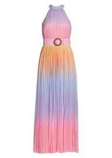 Rococo Sand Emi Ombre Pleated Halter Dress