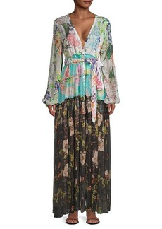 Rococo Sand Floral Tiered Ruffle Maxi Dress