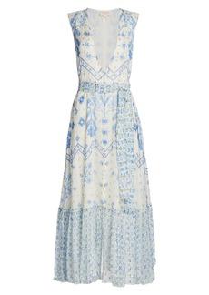 Rococo Sand Leas Sleeveless Printed Maxi Dress