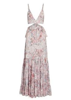 Rococo Sand Paola Paisley Cut-Out Maxi Dress