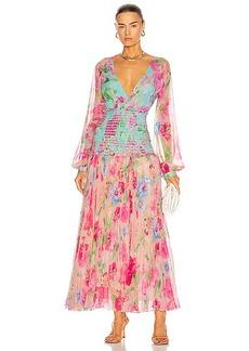 ROCOCO SAND Alora Pleated Maxi Dress