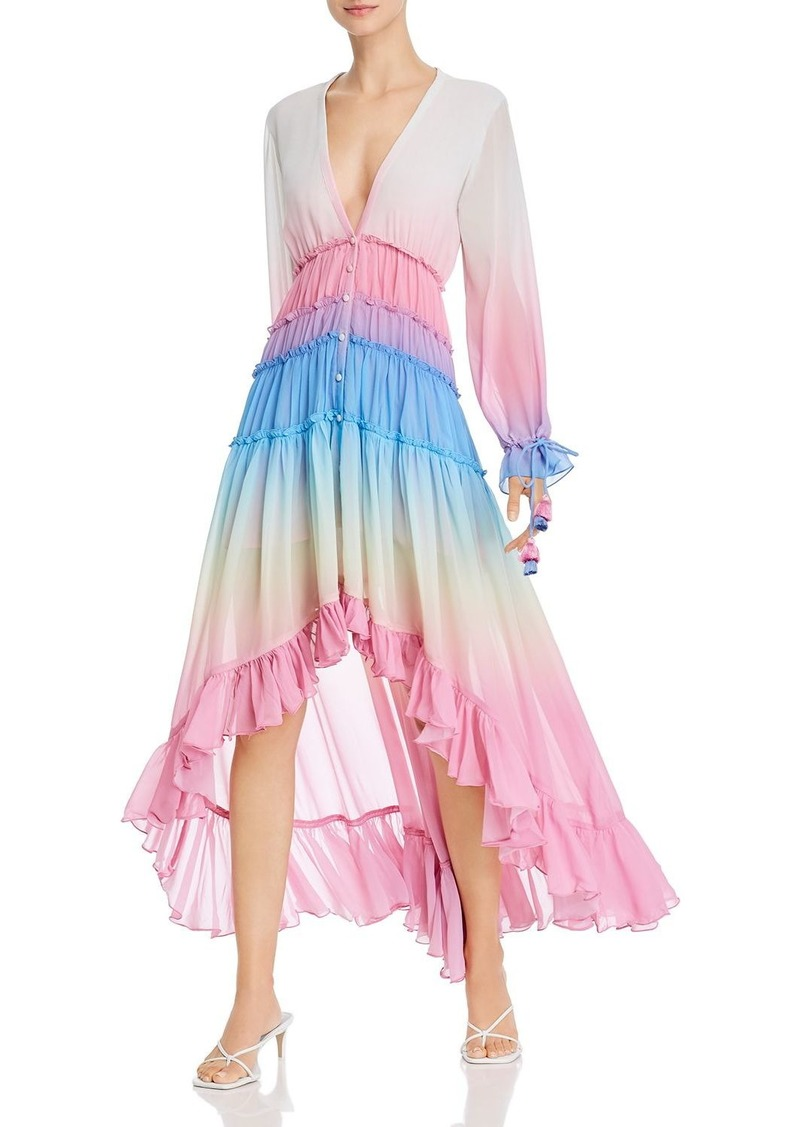 Rococo Sand Ombr� Ruffled Dress