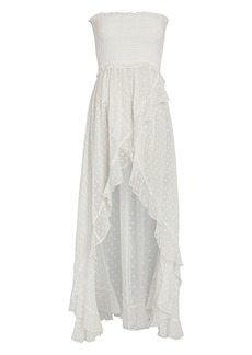 Rococo Sand Selene Strapless Swiss Dot Dress