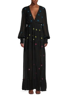Rococo Sand Sequin Star Maxi Dress