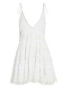Rococo Sand Sleeveless Fil Coupé Mini Dress