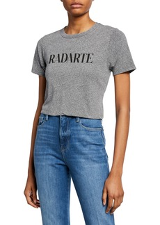 Rodarte Classic Radarte Heathered Graphic Tee