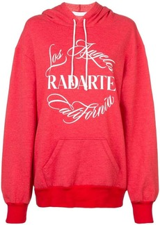 Rodarte logo print hoodie