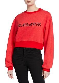 Rodarte Radarte Embroidered Crop Sweatshirt