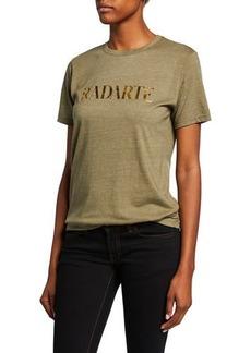 Rodarte Radarte Foil Short-Sleeve T-Shirt