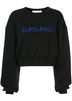 Rodarte cropped logo sweatshirt - Black