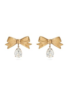 Rodarte Crystal-embellished bow earrings