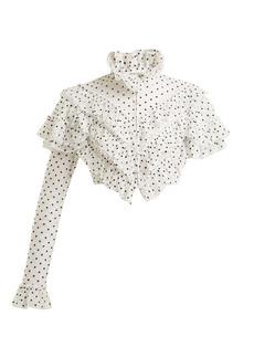 Rodarte Flocked polka-dot ruffle blouse
