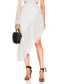 Rodarte Flocked Tulle Asymmetric Ruffle Skirt