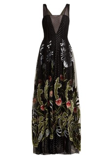 Rodarte Floral-embroidered fil-coupé tulle gown