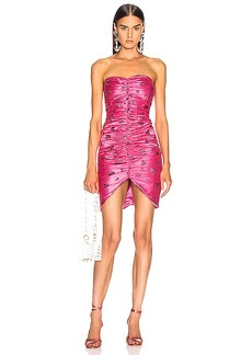 Rodarte Glitter Heart Strapless Ruched Dress