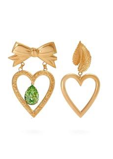 Rodarte Gold-plated dangle heart earrings