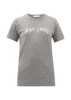 Rodarte Heather logo-print jersey T-shirt