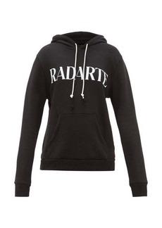Rodarte Logo-print cotton-blend jersey hooded sweatshirt