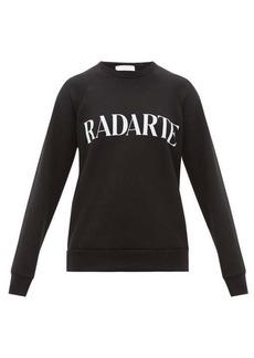 Rodarte Logo-print cotton-jersey sweatshirt
