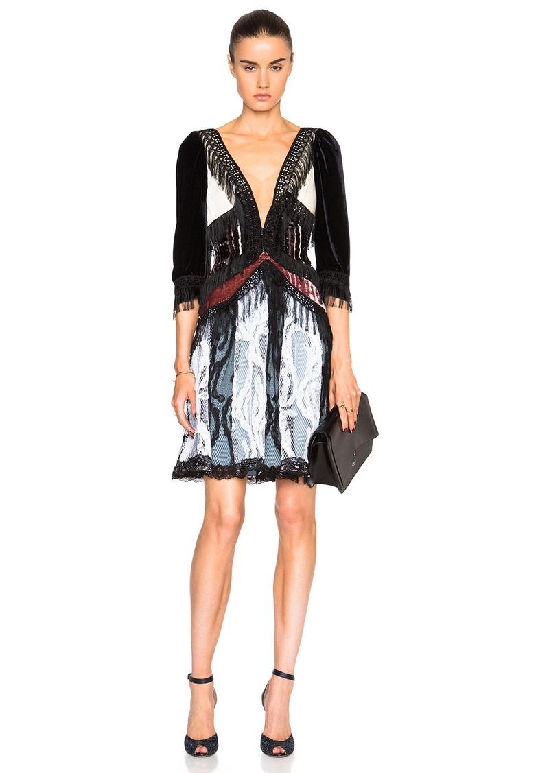 Rodarte Paisley Silk Velvet Dress