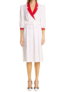 Rodarte Pleated Polka Dot Dress