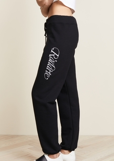 Rodarte Radarte Script Embroidery Sweatpants