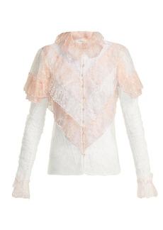 Rodarte Ruffled lace blouse