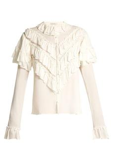 Rodarte Ruffled silk blouse