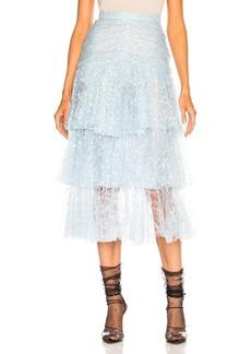 Rodarte Tulle Three Tier Ruffle Skirt