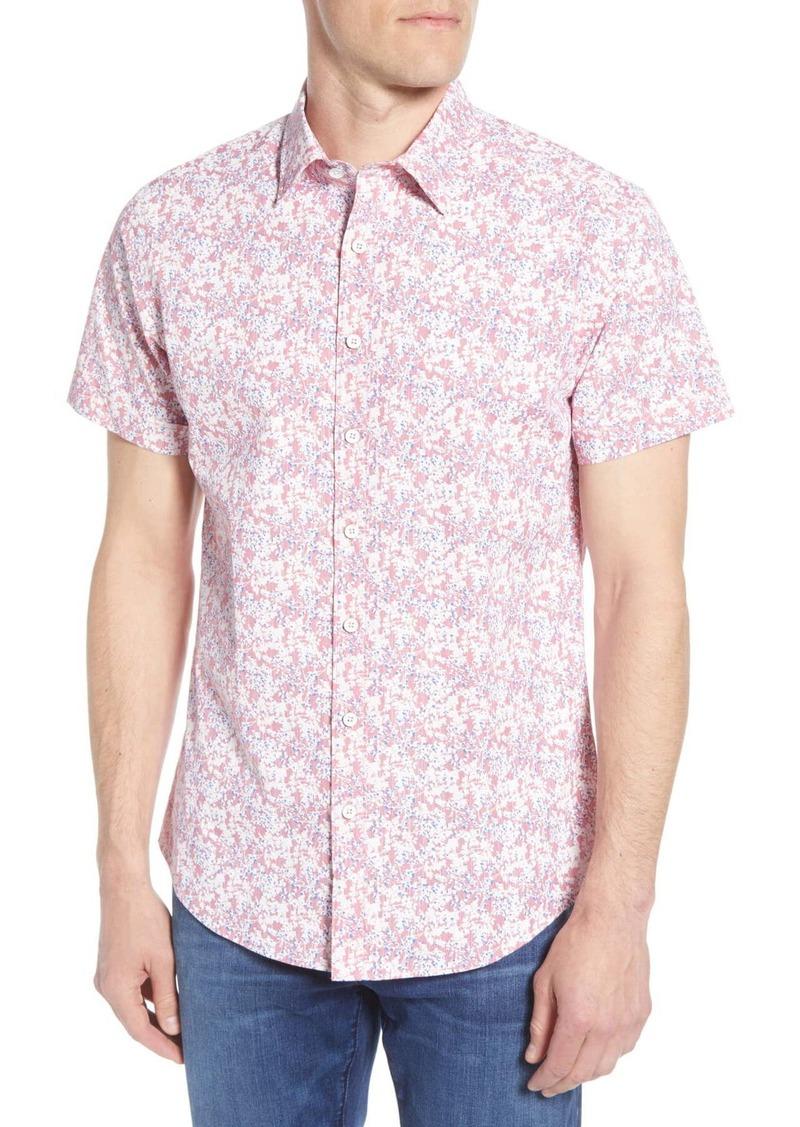 Rodd & Gunn Lake Roxburgh Regular Fit Floral Short Sleeve Button-Up Shirt