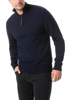 Men's Rodd & Gunn Dannemore Quarter Zip Wool Sweater