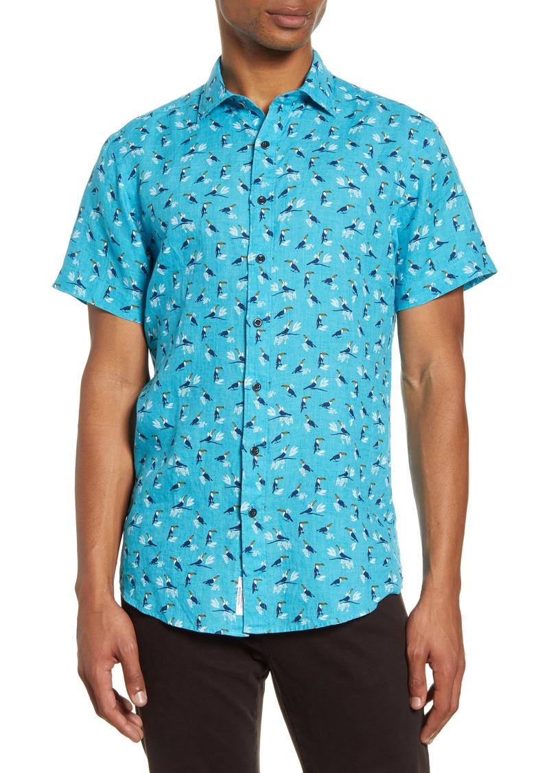 Rodd & Gunn Anatori Regular Fit Short Sleeve Linen Button-Up Shirt
