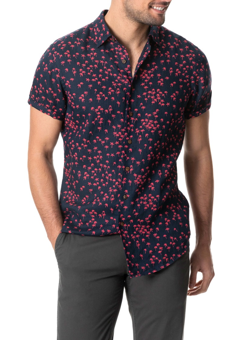 Rodd & Gunn Broadbay Regular Fit Short Sleeve Button-Up Linen Shirt