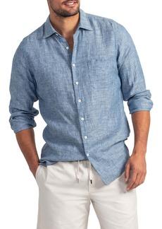 Rodd & Gunn Chaffeys Regular Fit Linen & Hemp Button-Up Shirt