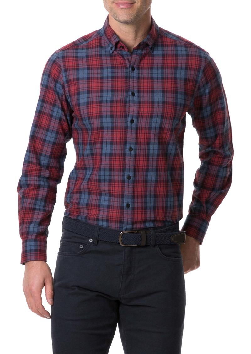 Rodd & Gunn Fairham Regular Fit Plaid Button-Down Shirt