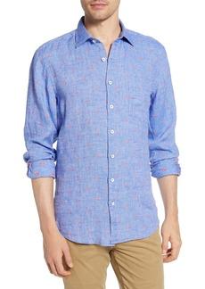 Rodd & Gunn Fox Street Sports Fit Linen Blend Button-Up Shirt