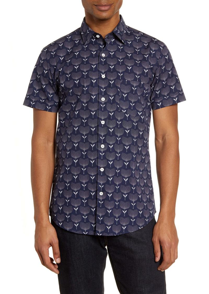 Rodd & Gunn Govan Regular Fit Floral Short Sleeve Button-Up Shirt