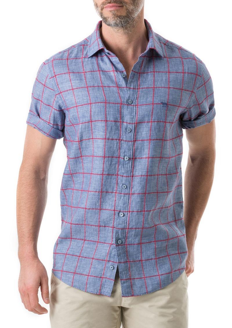 Rodd & Gunn Linfield Linen Blend Plaid Shirt