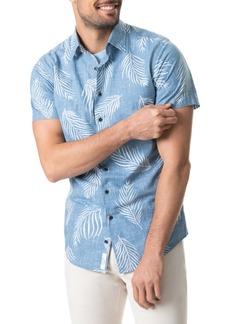 Rodd & Gunn Martains Bay Regular Fit Print Short Sleeve Button-Up Shirt