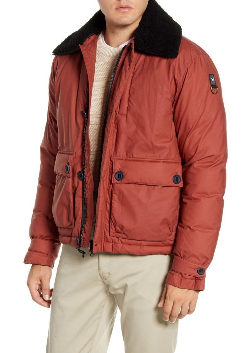 Rodd & Gunn Queenstown Genuine Shearling Trim Down Jacket