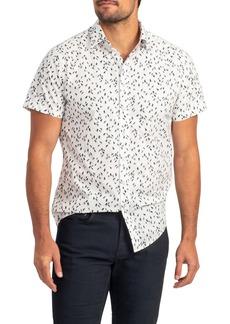 Rodd & Gunn Richmond Bay Sports Fit Sailboat Print Short Sleeve Button-Up Shirt