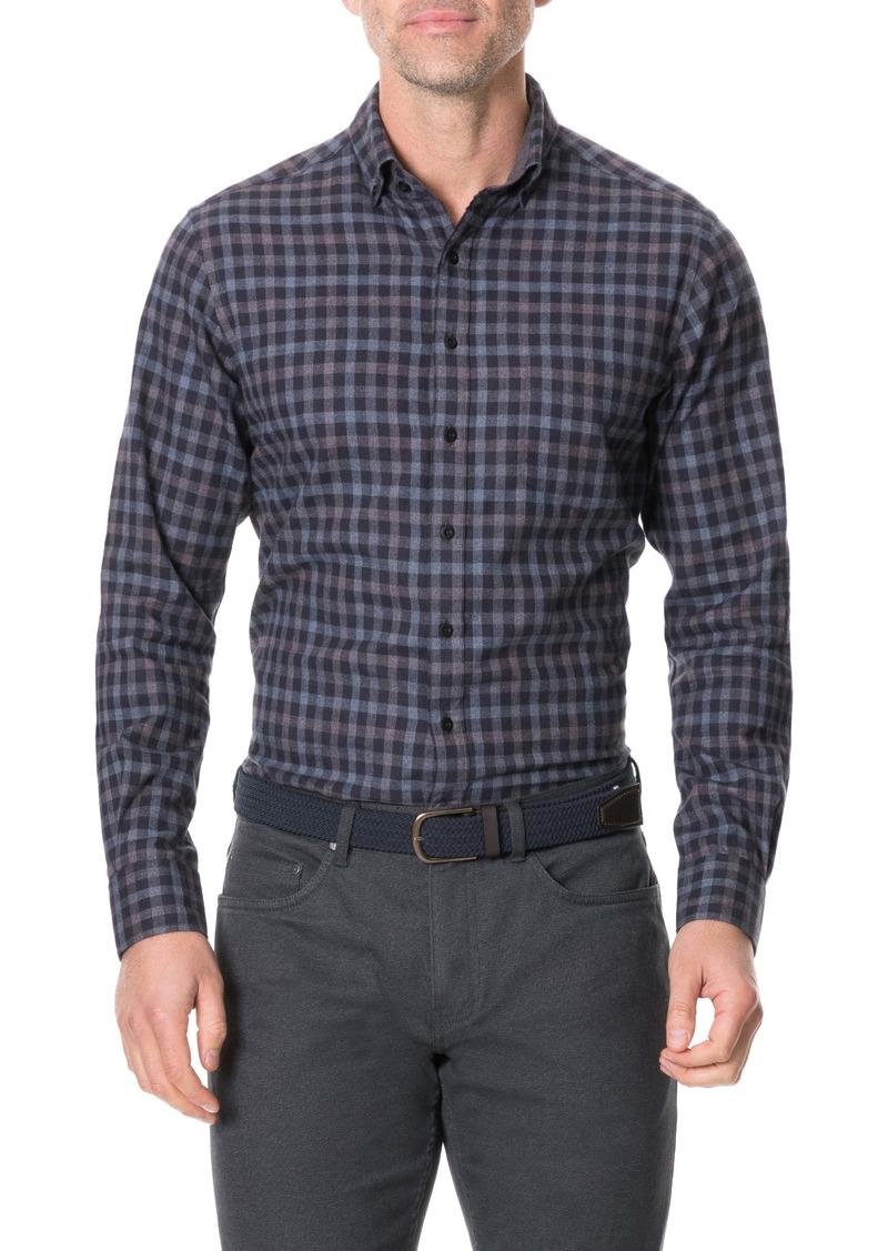 Rodd & Gunn Wheatstone Slim Fit Plaid Button Front Shirt