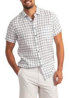 Rodd & Gunn Windsoe Windowpane Short Sleeve Linen Button-Up Shirt