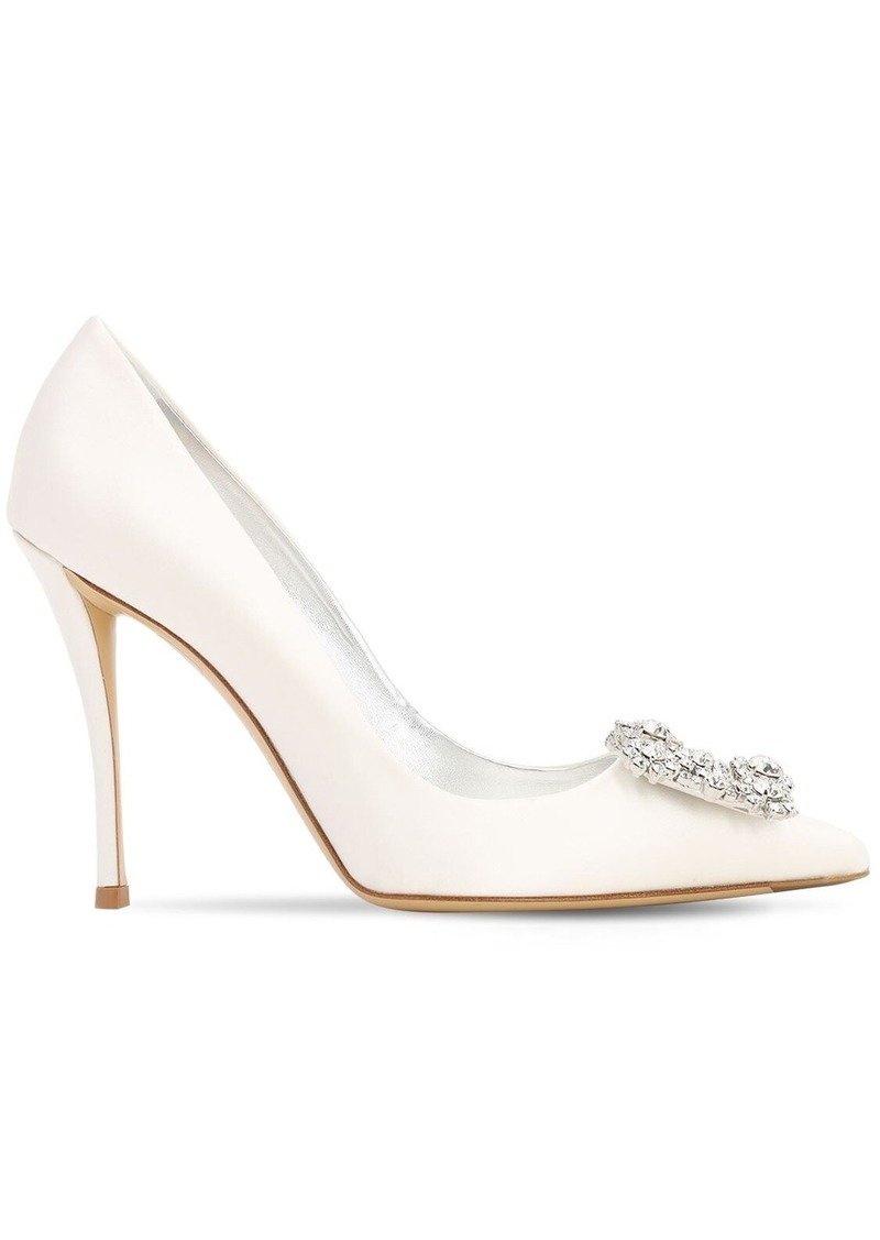 Roger Vivier 100mm Décolleté Crystal Satin Pump