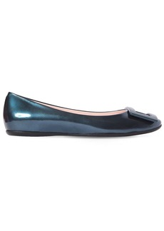 Roger Vivier 10mm Gommette Pearled Leather Flats
