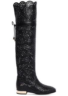 Roger Vivier 15mm Laser-cut Leather Boots