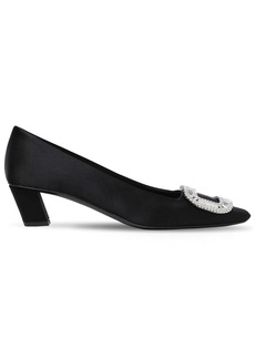 Roger Vivier 45mm Belle Vivier Crystals Satin Pumps