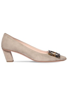 Roger Vivier 45mm Belle Vivier Suede Pumps